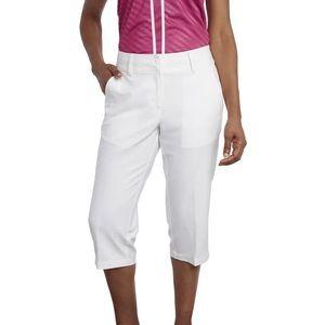 Pebble Beach White Performance Capri Pants - 6 NWT